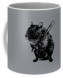 Angry Street Art Mouse  Hamster Baseball Edit  Coffee Mug