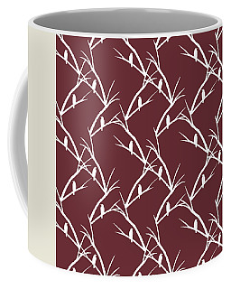 Rustic Bird Art Maroon Bird Silhouette Coffee Mug