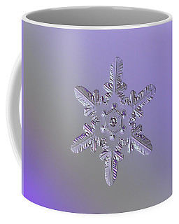 Coffee Mug featuring the photograph Snowflake Photo - Heart-powered Star by Alexey Kljatov