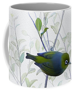 Coffee Mug featuring the painting Silvereye by Ivana Westin