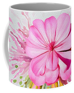 Coffee Mug featuring the painting Pink Eruption by Ivana Westin