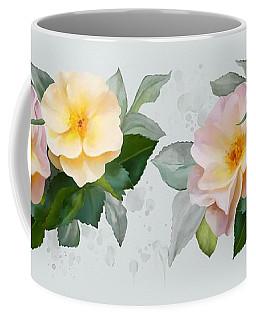 Two Wild Roses Coffee Mug