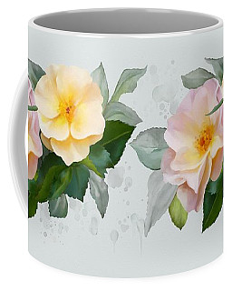 Two Wild Roses Coffee Mug