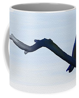 Coffee Mug featuring the painting Eye To Eye With Silvereye by Ivana Westin