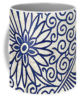 Blue Oriental Vintage Tile 01 Coffee Mug
