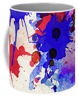 Blue And Red Color Splash Coffee Mug