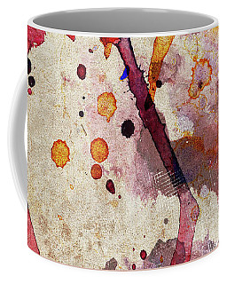 Red Color Splash Coffee Mug