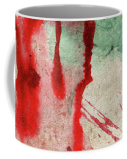 Green And Red Color Splash Coffee Mug