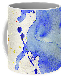 Blue And Orange Color Splash Coffee Mug