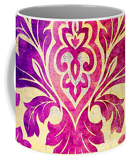 Purple Damask Pattern Coffee Mug