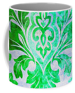 Green Damask Pattern Coffee Mug