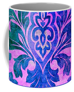 Blue Damask Pattern Coffee Mug
