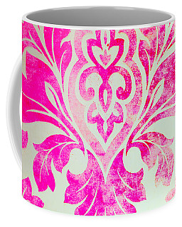 Pink Damask Pattern Coffee Mug