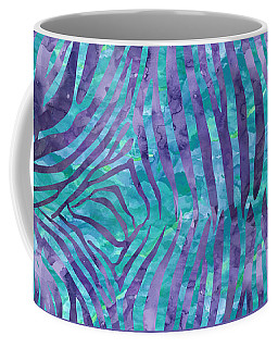 Blue Zebra Print Coffee Mug