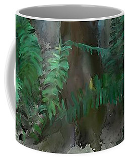 Coffee Mug featuring the painting Jungle by Ivana Westin