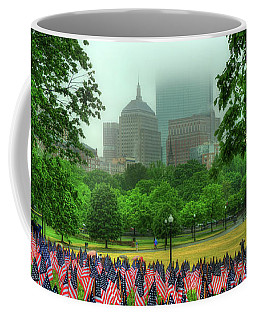 Military Heroes Garden Of Flags - Boston Common Coffee Mug by Joann Vitali