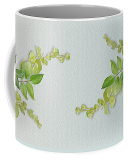 Coffee Mug featuring the painting Yellow Tiny Flowers by Ivana Westin