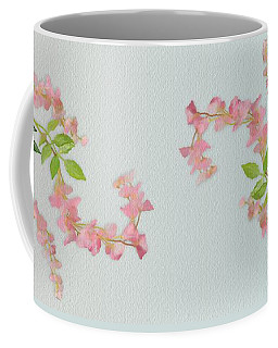 Coffee Mug featuring the painting Pink Tiny Flowers by Ivana Westin