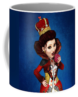 Queen Of Hearts Portrait Coffee Mug