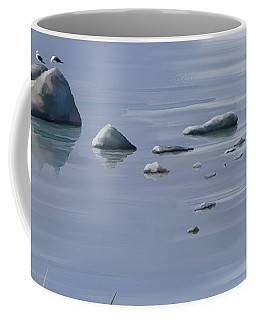 Coffee Mug featuring the painting Gull Siesta by Ivana Westin
