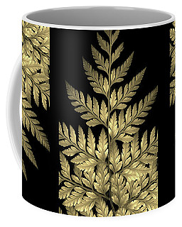Gold Leaf Fern Coffee Mug by Jessica Jenney