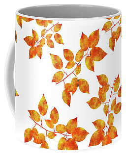 Black Cherry Pressed Leaf Art Coffee Mug