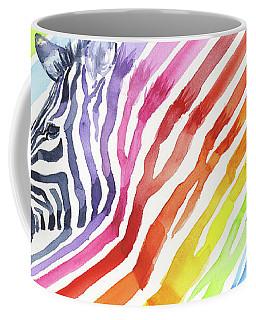 Rainbow Zebra Pattern Coffee Mug