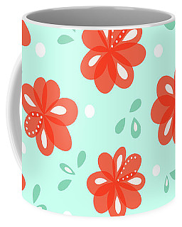 Cheerful Red Flowers Coffee Mug