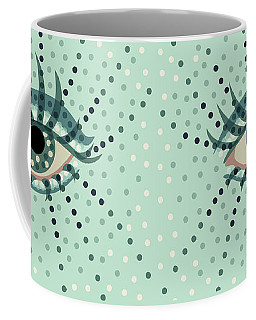 Beautiful Abstract Dotted Blue Eye Coffee Mug
