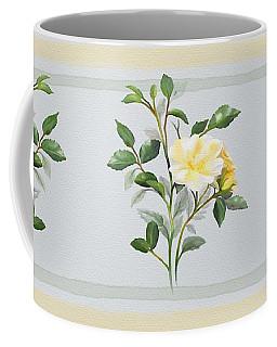 Yellow Watercolor Rose Coffee Mug