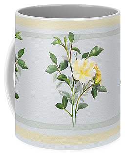 Coffee Mug featuring the painting Yellow Watercolor Rose by Ivana Westin