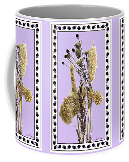 Cattails And November Flowers Coffee Mug by Lise Winne