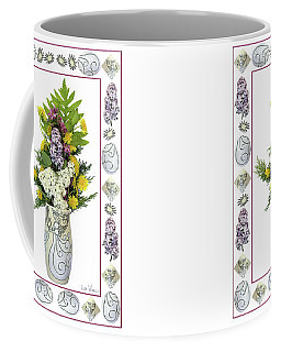 Star Vase With A Bouquet From Heaven Coffee Mug by Lise Winne
