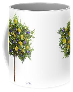 Coffee Mug featuring the photograph Dandelion Violet Tree by Lise Winne