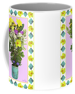 Turquoise Vase With Spring Bouquet Coffee Mug