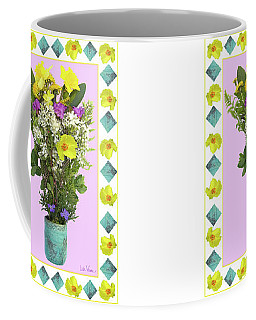 Turquoise Vase With Spring Bouquet Coffee Mug by Lise Winne