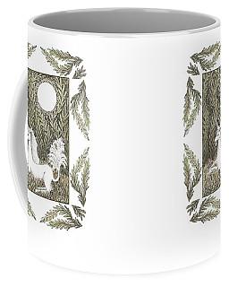 Coffee Mug featuring the drawing Vigilant Unicorn by Lise Winne