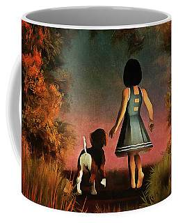 Romantic Walk In The Woods Coffee Mug