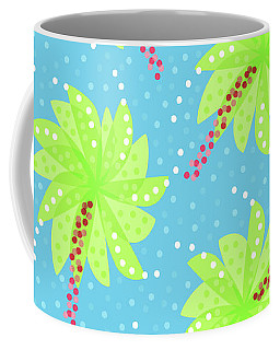 Green Flowers In The Wind Coffee Mug