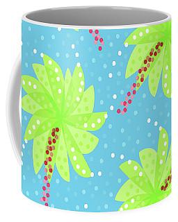 Green Flowers In The Wind Coffee Mug