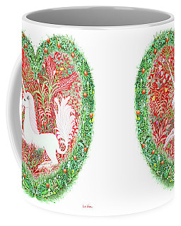 Unicorn Heart With Millefleurs Coffee Mug