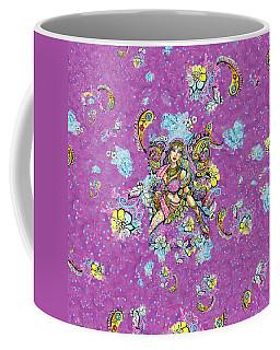 Purple Paisley Flower  Coffee Mug