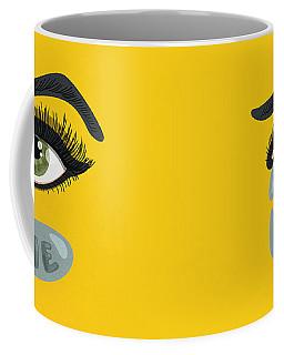 Green Lying Eye With Tears Coffee Mug
