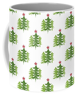 Winter Holiday Trees 2- Art By Linda Woods Coffee Mug