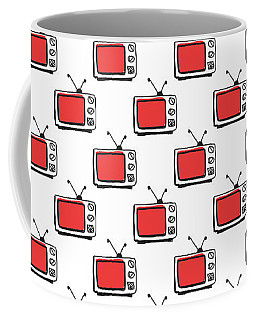 Binge Watching- Art By Linda Woods Coffee Mug