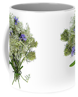 Queen Anne's Lace With Purple Flowers Coffee Mug