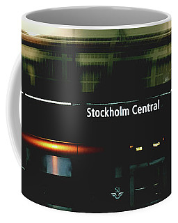 Stockholm Central- Photograph By Linda Woods Coffee Mug