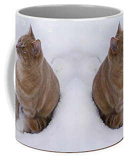 Cat With Snowflakes Coffee Mug
