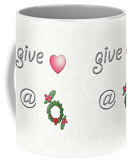 Give Love At Christmas Coffee Mug by Linda Prewer
