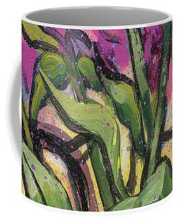 Magenta Bouquet On Mantel Coffee Mug